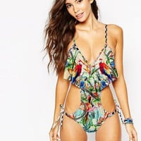 Wildfox Acid Baroque Swimsuit