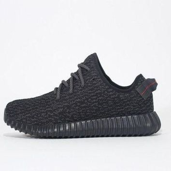 PEAPNO Adidas Yeezy Boost 350 Pirate Black Running Shoes - BB5350