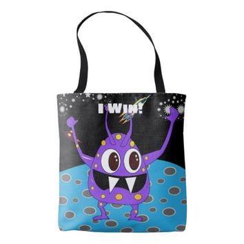 Cute Alien I Win Tote Bag