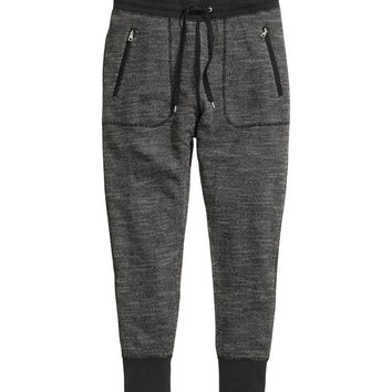 H&M - Sweatpants - Black melange - Men