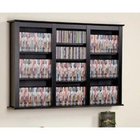 Black Triple Wall Mounted Storage