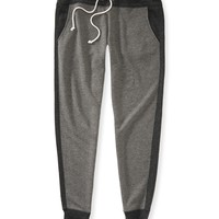 COLORBLOCKED SKINNY SLOUCH SWEAT PANTS