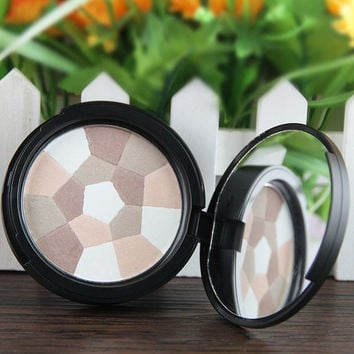 Cosmetic Football Pattern Colormix Bronzing Powder with Mirror