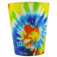 Psychedelic Tie Dye Shot Glass