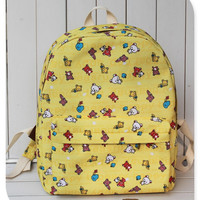 Lovely Canvas Cartoons Cute One Shoulder Shoulder Bags = 4887954820