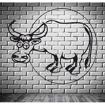 Cow Animal Funny Kids Children Mural Wall Art Decor Vinyl Sticker Unique Gift z085