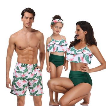 Mother Daughter Father Son Clothes Family Matching Swimwear