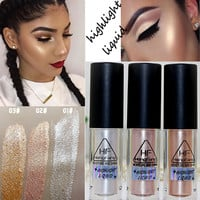 HangFang Brand Make Up Gold White Shimmer Highlighter Face Contour Makeup Liquid Highlighter Stick