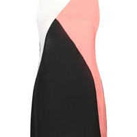 Color Block Sleeveless Chiffon Plus Sized Shift Dress