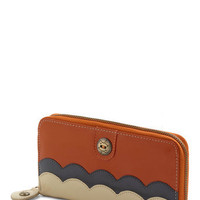 Pay Compliments Wallet in Pumpkin | Mod Retro Vintage Wallets | ModCloth.com