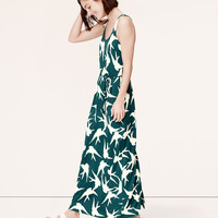 Swallowtail Racerback Maxi Dress | LOFT