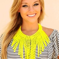 Dot Your Average Necklace: Neon Yellow