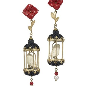 Of Rare Origin Aviary Classic Mini Drop Earrings - ShopBAZAAR