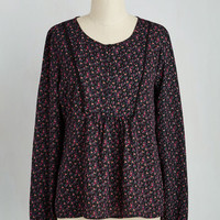 Boho Mid-length Long Sleeve The Moral of Pastoral Florals Top