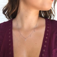 Celebrate Silver Dainty Necklace