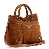 mytheresa.com -  Balenciaga - CLASSIC VELO SUEDE TOTE - Luxury Fashion for Women / Designer clothing, shoes, bags