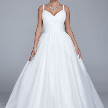Taffeta Tank Wedding Dress with Empire Waist - Davids Bridal
