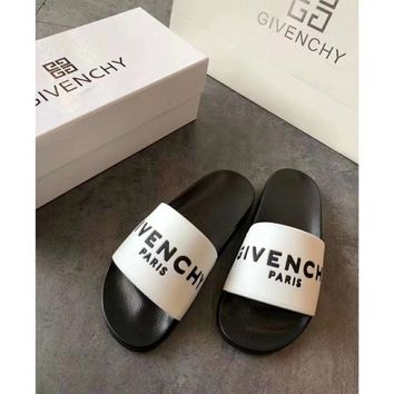 White GIVENCHY SLIPPERS