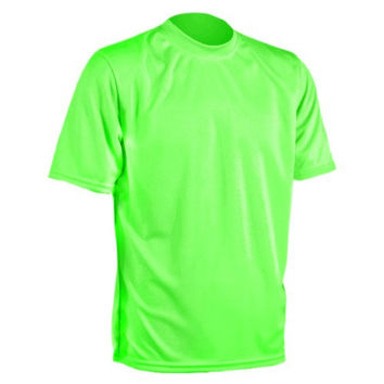 RaceReady Unisex Cool T - Tech Running Shirt, Lime