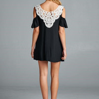 Lace Back, Open Shoulder Tunic