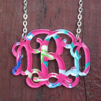 The Frances - Monogram Necklace - Anchor Pattern
