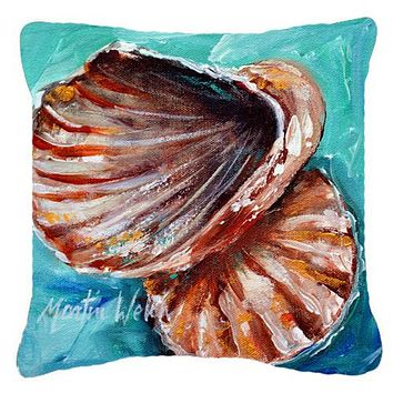 Shells not in a row Canvas Fabric Decorative Pillow MW1147PW1414