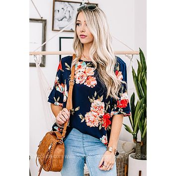 On Island Time Floral Top
