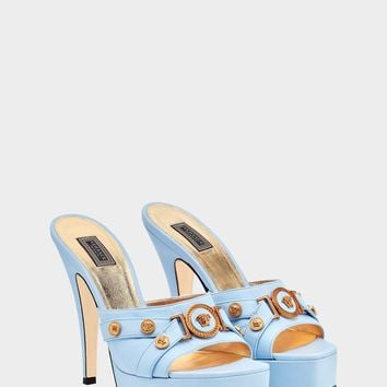 Versace Tribute Leather Mules for Women | US Online Store