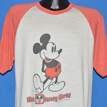 80s Mickey Mouse Walt Disney World Jersey t-shirt Large