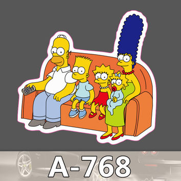 A-768 Cartoon Family Waterproof Cool DIY Stickers For Laptop Luggage Fridge Skateboard Car Graffiti Cartoon Sticker