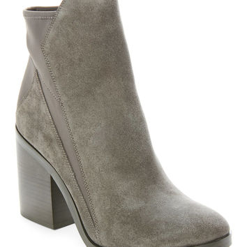 Charcoal Caroline Block Heel Ankle Booties