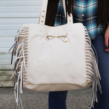 Betsey Johnson Fringe Party Tote