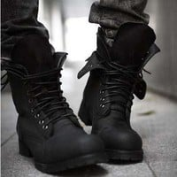 2014 Men's Winter England-style boots Shoes