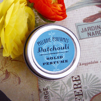 Patchouli essential oil solid perfume by Melodie Perfumes.