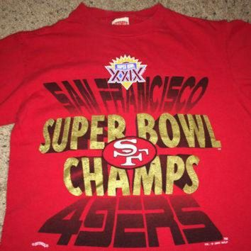 VLX9RV Sale!! Vintage SF 49ers Super Bowl Champs 1995 Football Shirt San Francisco NFL Jersey