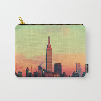 NYC Skyline Carry-All Pouch by cadinera