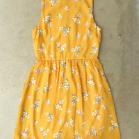 Blooming Canary Dress [3135] - $33.30 : Vintage Inspired Clothing & Affordable Summer Dresses, deloom | Modern. Vintage. Crafted.