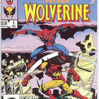 Spider-Man versus Wolverine, V1, 1.  NM+.  Feb 1987.  Marvel Comic