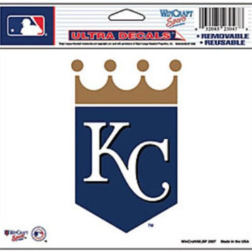 "Kansas City Royals Removable 5""x6"" Car Decal"
