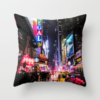 New York City Night Throw Pillow by Nicklas Gustafsson