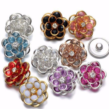 Acrylic Lotus Flower Snap 20mm for Snap Jewelry