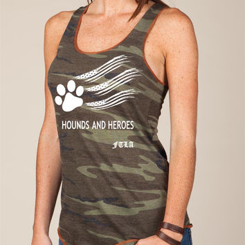 Eco Jersey Camo Racerback Tank Top - Hounds and Heroes