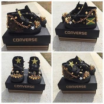 army inspired custom spiked converse