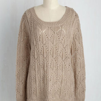 Stop, Look, and Lace Hem Sweater