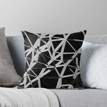 '3D Futuristic GEO Lines V' Throw Pillow by Creative BD