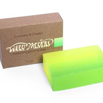 Cucumber + Cilantro Handcrafted Soap