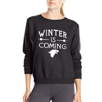 Games of Thrones Winter is Coming Women sweatshirts 2017 Spring Winter New Style fleece hoodies Fashion brand clothing for fans