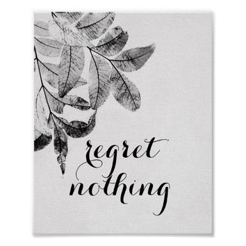 nature art poster in black and white with quote