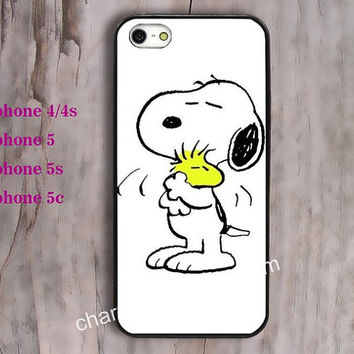 Dog,Snoopy, phone case,Cartoon,iPhone 5 ,5s,5c and iPhone 4 / 4s Plastic/rubber Hard iPhone case Picture Custom iPhone,water proof