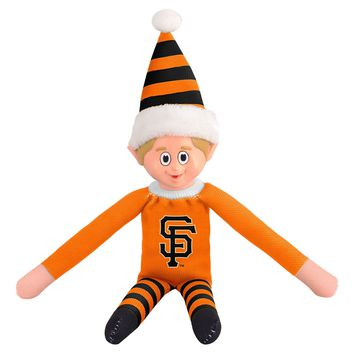 San Francisco Giants SF Holiday Christmas Team Elf with Santa Hat n Shirt MLB